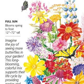 Bring Home the Butterflies Flower Mix seed packet