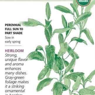 Broadleaf Sage seed packet