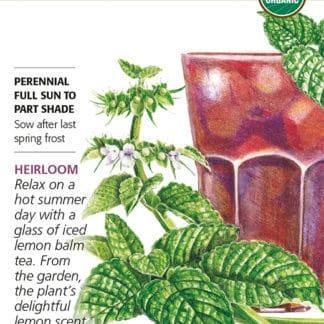 Lemon Balm seed packet