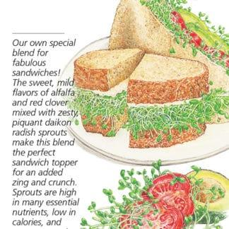 Sandwich Mix Sprouts seed packet
