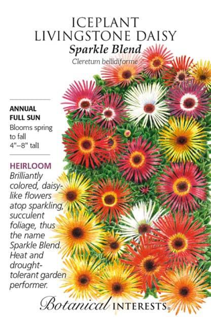 Sparkle Blend Iceplant (Livingstone Daisy) Seed packet