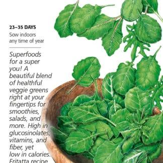 Superfoods Baby Greens Seed Packet